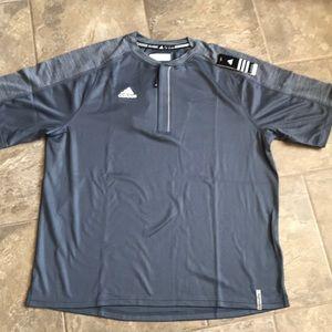 ⚾️Men's Climacool Adidas  Short sleeve 1/4 zip